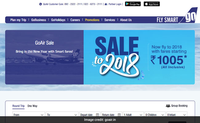 GoAir group booking sector